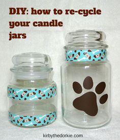 How To Re-Cycle Your Candle Jars for pet treats  #DIY