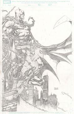 Spider-Man / Batman by David Finch