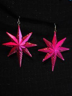 $15 Big glitter accented earrings