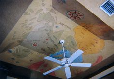 map on ceiling