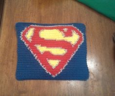 Butterfly's Creations: Superhero Afghan: Superman (Block 2). FREE pattern!