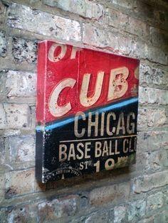 Chicago Cubs Sign Art Canvas