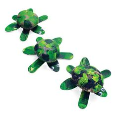 Painted turtles for an Earth Day craft.
