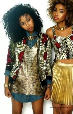 For spring what better matches the afros coming out of hibernation than vibrant patterns and colors? -TMC~~ African print jacket, african fashion, fashion styles, fashion prints, african prints, street styles, afrostyle magazine, bold colors, curly hair
