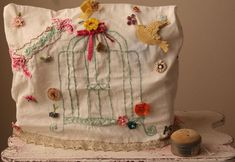 Sewing machine cover finished ~ Pam Garrison