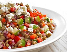 Biggest Loser lentil salad