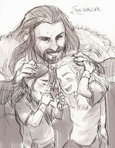 Thorin, Fili, and Kili.