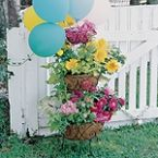 Willow House Botanica Tiered Planter...all dolled up for a spring party!