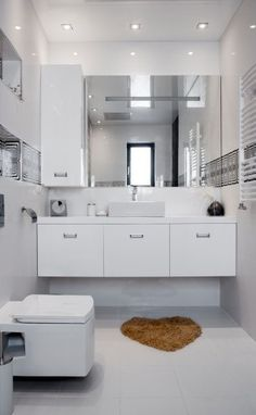 white in small bathroom