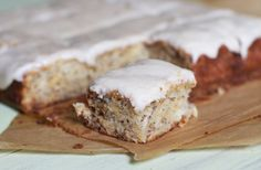 Banana Bars with Brown Butter Icing | The Baker Chick