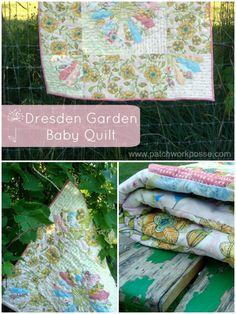 Dresden Garden Baby Quilt Tutorial
