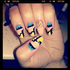 Ellie Harry aztec nail art