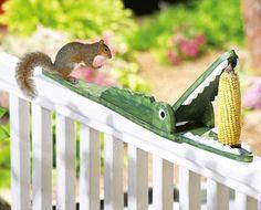 Crocodile Shaped Squirrel Feeder