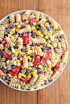 Southwestern Black Bean Pasta Salad #Recipe