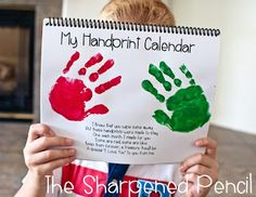 The Sharpened Pencil: Handprint Calendars!! The Perfect Christmas Gift is right here!  Parents love this homemade gift.  :)