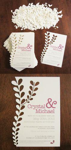 Cut paper invites