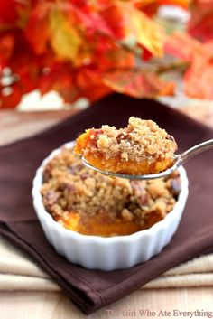pecan topped sweet potatoes.