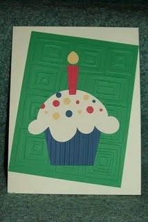 Cupcake Card with candle