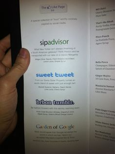 Social Media Cocktails - what will they think of next?
