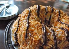 Girl Scout Cookie Samoa Cake