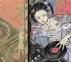 Asian Super-girls! by Yuko Shimizu, via Behance