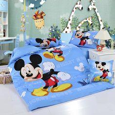Mickey Mouse Sky Blue Disney Bedding Sets