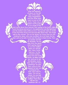 FREE Lovely Easter Printables with the Bible Verse Mathew 28:1-10 4 colors to choose from via @Maria Canavello Mrasek Canavello Mrasek Gridley agapelovedesigns.com