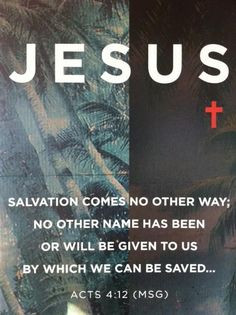 Acts 4:12 No other way...