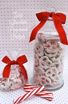 Easy Chocolate Peppermint Pretzels