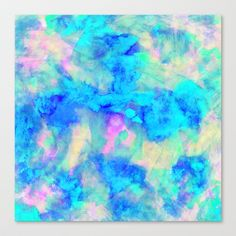 Electrify Ice Blue Stretched Canvas by Amy Sia - $85.00