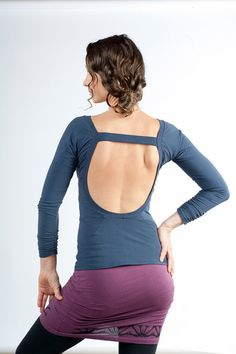 Longsleeve Backless Shirt  Womens Clothing  Womens by aurorawear1, $55.00