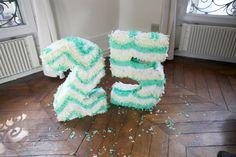 how to make a number piñata