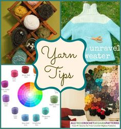 Get four amazing yarn tips in this collection that you never would have thought of. Learn how to recycle yarn from a sweater and learn how to use a wine rack as a yarn storage holder. You'll have to check out the collection for the other great tips!