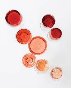 Shades of rosé.