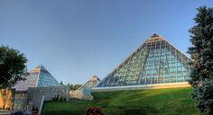 Muttart Conservatory, Edmonton, Alberta, Canada.