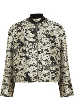 { floral bomber jacket }