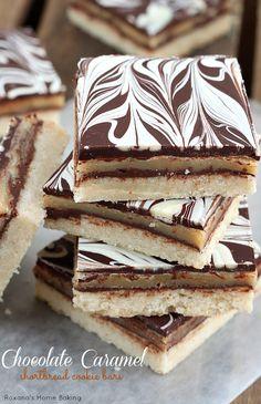 sweet treats, chocol caramel, caramel shortbread, dessert