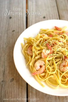 Easy Shrimp Scampi #shrimp #scampi #dinner #seafood