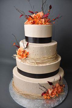 fall wedding cakes, idea, dream, fall inspir, fall cakes, fall autumn, bethel bakeri, autumn falls, fall weddings