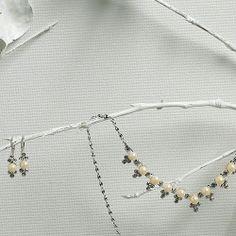 Pearl Chevron On Silver Jewelry