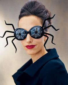 Go from office-to-party with these DIY spider shades.