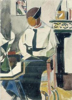 Lena in interieur - Theo van Doesburg