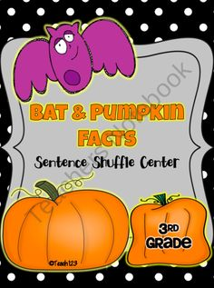 This bat and pumpkin fluency center is on the 4th grade reading level and is aligned with 3rd, 4th, and 5th grade Common Core Standards.   $