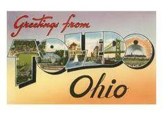 Vintage postcard for Toledo, OH