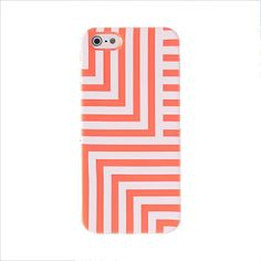 Coral and White iPhone Case