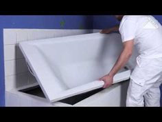 Salle de bains on pinterest merlin hemnes and bathroom - Comment repeindre une baignoire ...