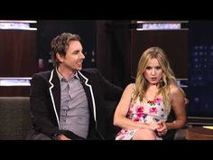 Kristen Bell & Dax Shepard on Jimmy Kimmel Live PART 1
