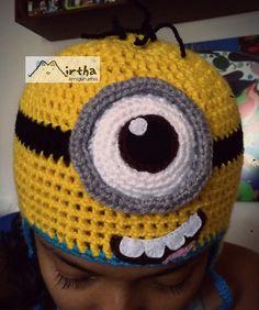 Minion hat gorro minion MirthaAmigurumis #minion #minionhat #crochet #GUAYAQUIL # Ecuador