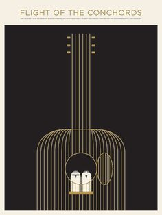 Flight of the Conchords poster by Jason Munn at The Stakes - sold out, sadly