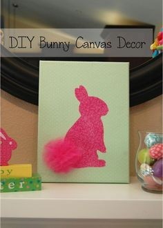 Pinkie for Pink: DIY Bunny Canvas Decor